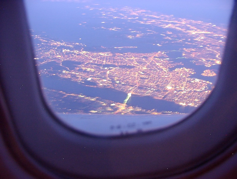 British Airways Concorde BA97 YYZ to JFK 2 October 2003 - Tappan Zee Bridge