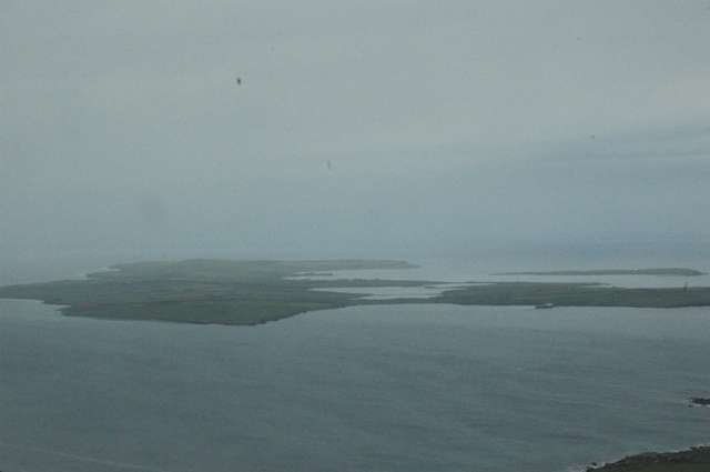 Papa Westray from the air