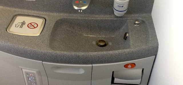 ANA's Boeing 787-8 Toilet sink