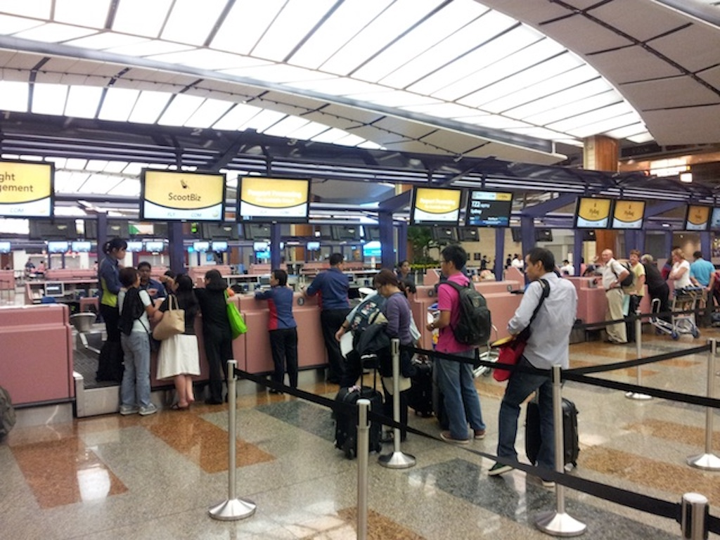 fly scoot check-in in Singapore (SIN)