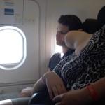 Tiger Airways Couple Sleeping