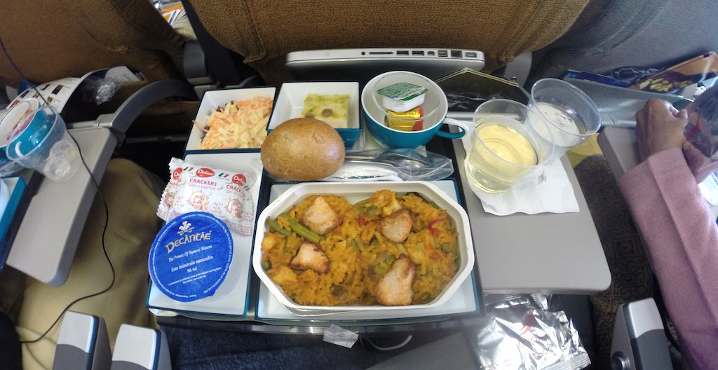 Sri Lankan Airlines Economy Class First Meal