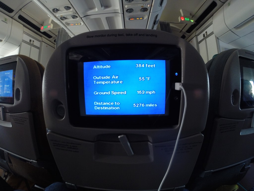 SriLankan Airlines Economy Class Screen Taking Off