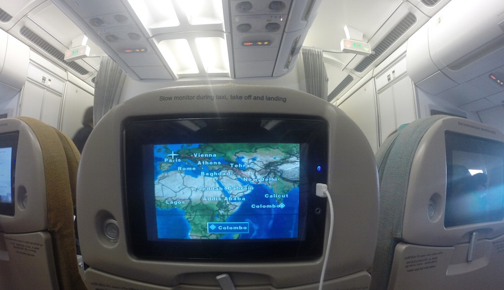 SriLankan Airlines Economy Class Entertainment System