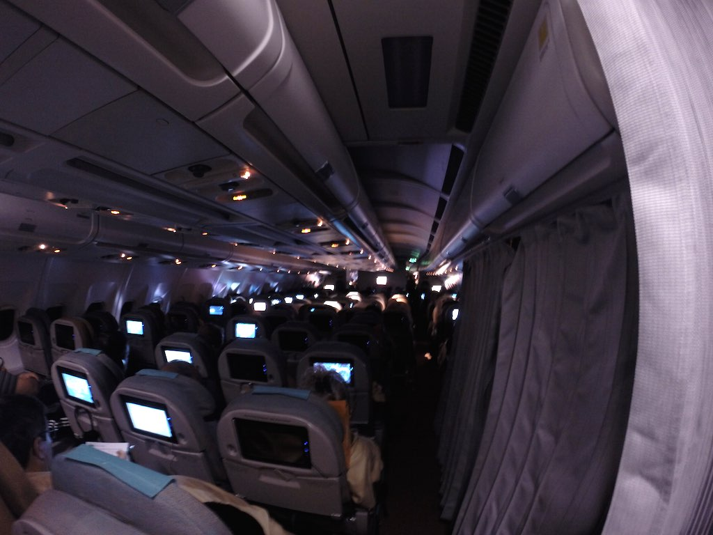 SriLankan Airlines Economy Class At Night