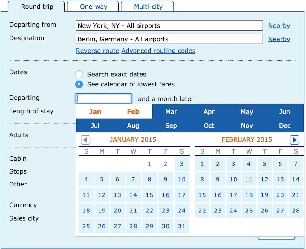 How To Book Low Fares - Using The ITA Software Matrix Calendar