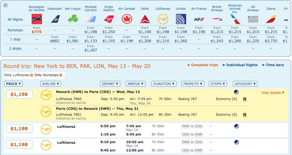 How To Book Low Fares - Using The ITA Software Matrix Calendar Itinerary and Fare Display
