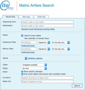 How To Book Low Fares - Using The ITA Software Matrix