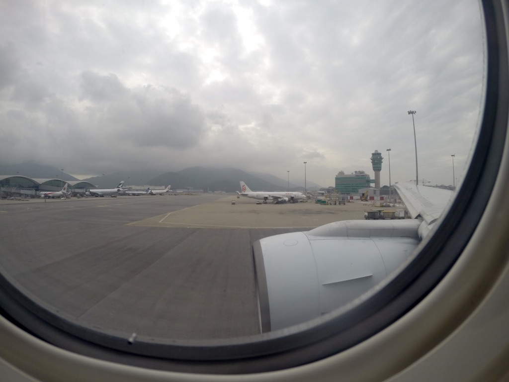 Safety Video - Looking outside at Hong Kong Airport
