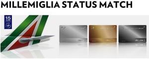 Alitalia Millemiglia Status Match 2015