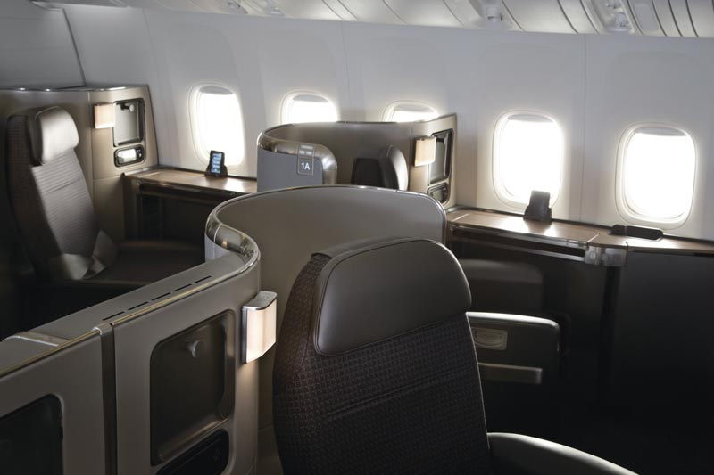 American Airlines Boeing 777-300ER First Class seats - compliments of American Airlines