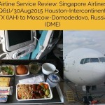 Singapore Airlines (SQ61) Airline Service Review