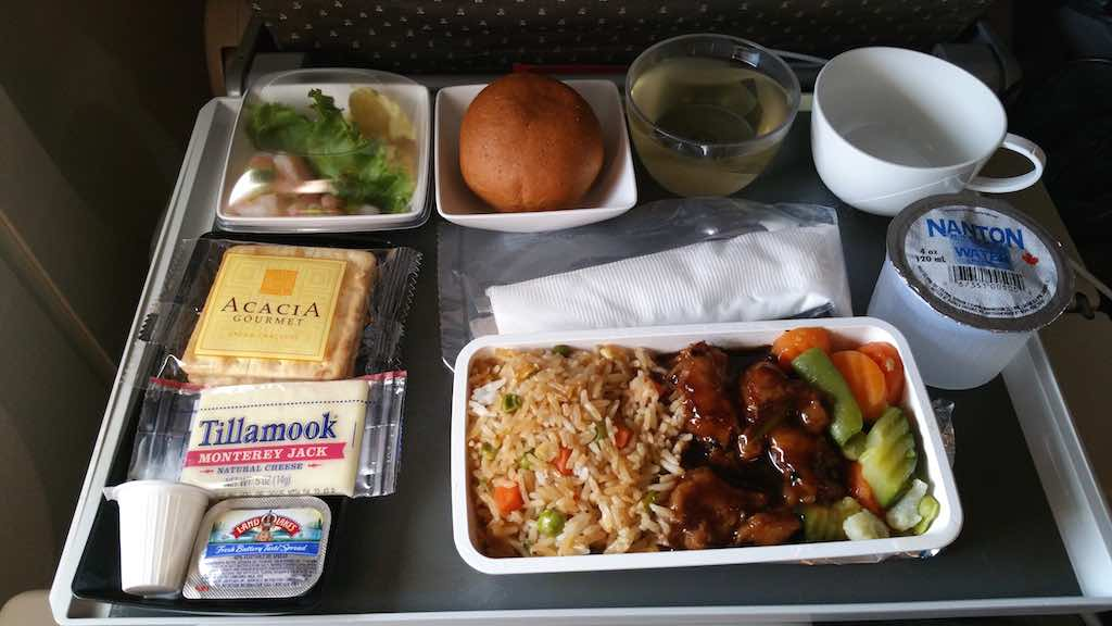 Singapore Airlines First Meal