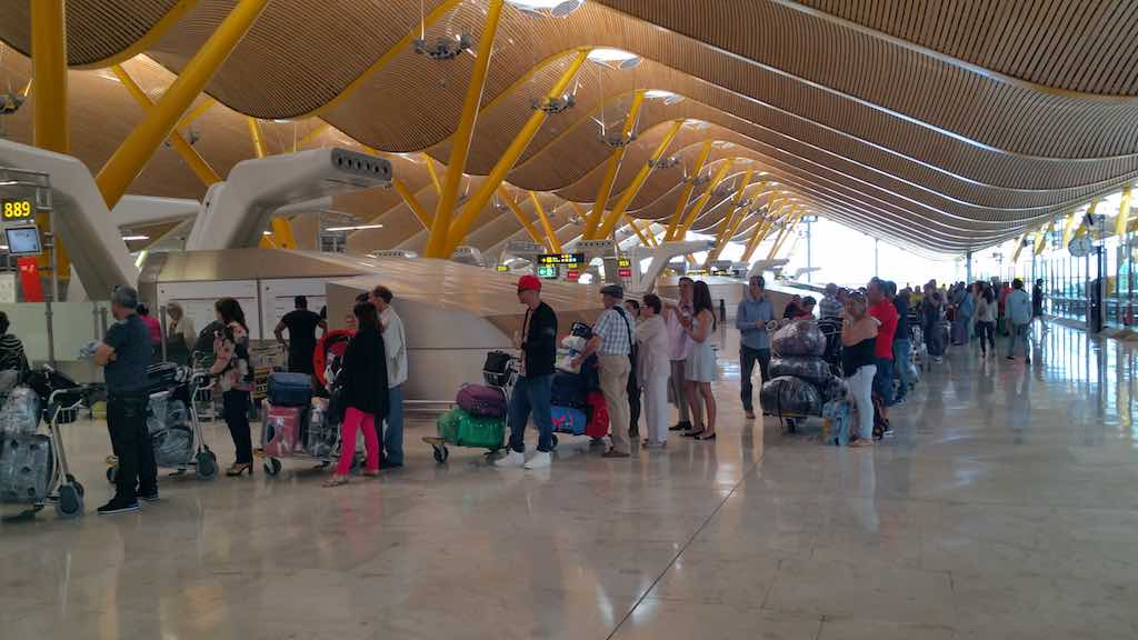 Check-in Counter at Madrid-Barajas Airport (MAD)
