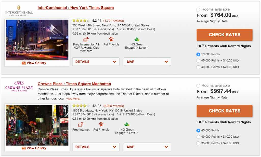 IHG New York Times Square Hotels for 2015/2016