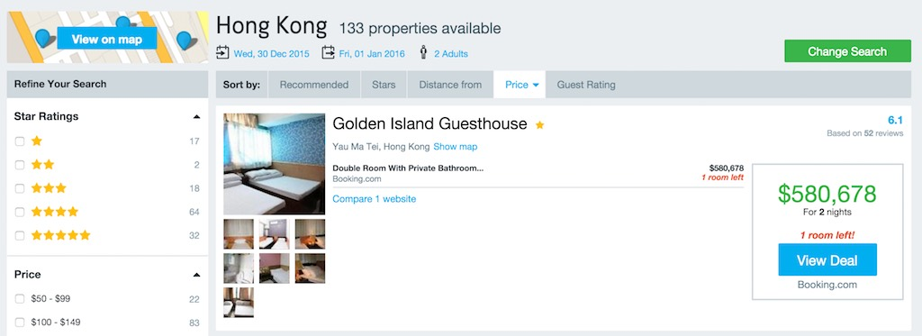 Most Expensive New Year Hotel Hong Kong
