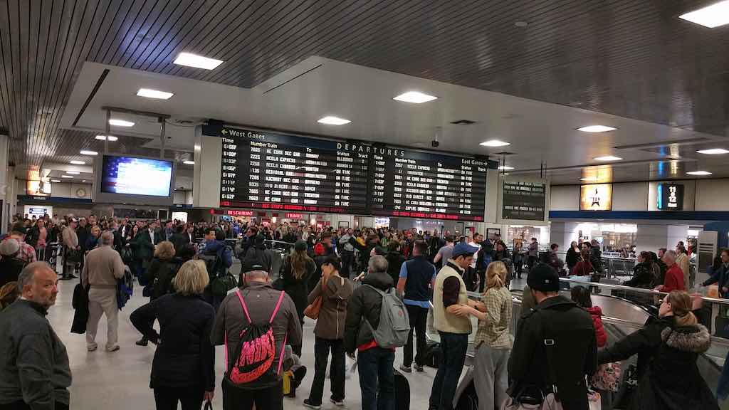 Winter Storm Jonas Jan 2016 Penn Station, New York