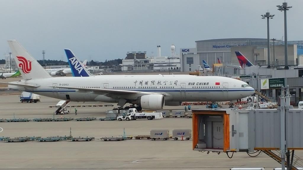 Airplanes in Tokyo-Narita, Japan
