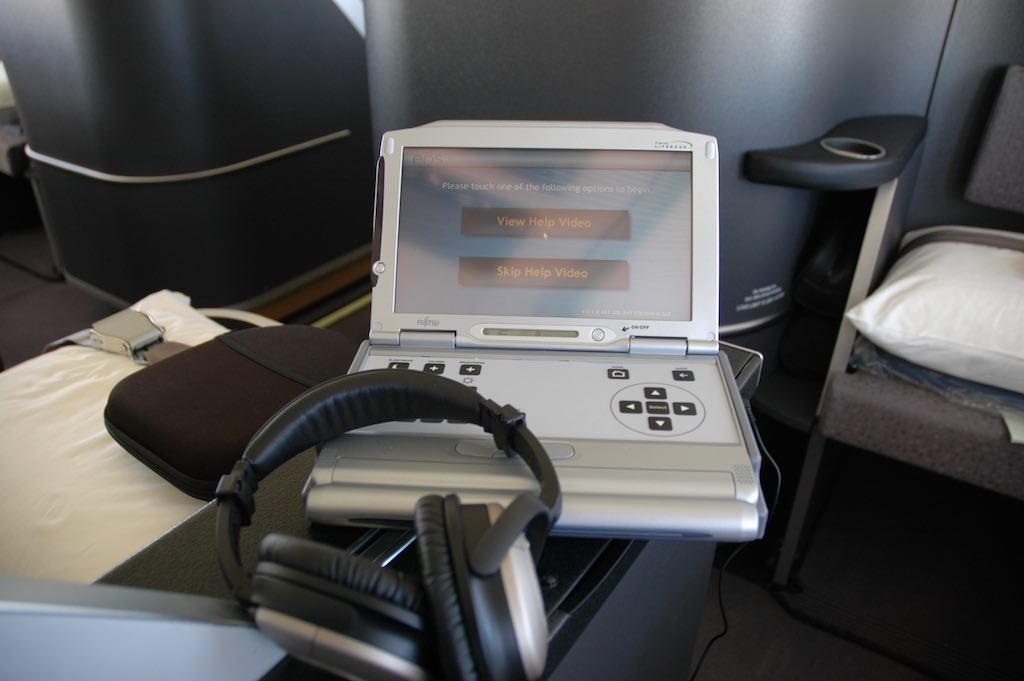 EOS Flight 1 - 23 Oct 2005 - Entertainment System and Bose Headphones