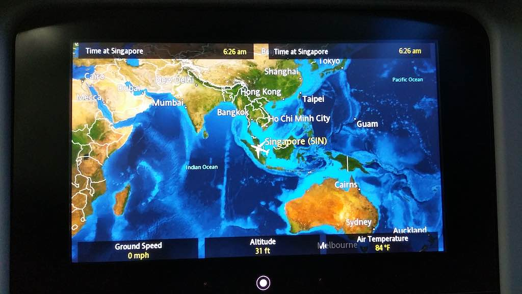 United 1: Arrived in Singapore