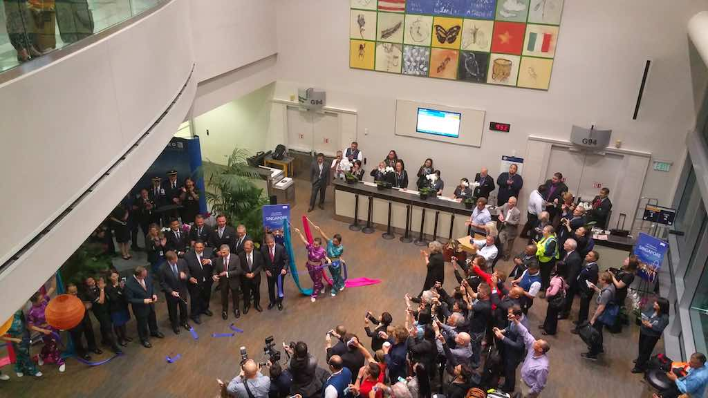 United1: Ribbon Cutting Ceremonies Before The Flight
