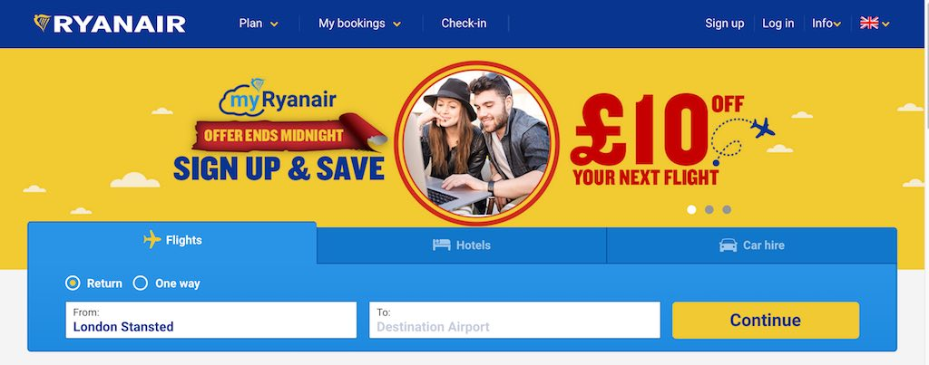 Ryanair offer
