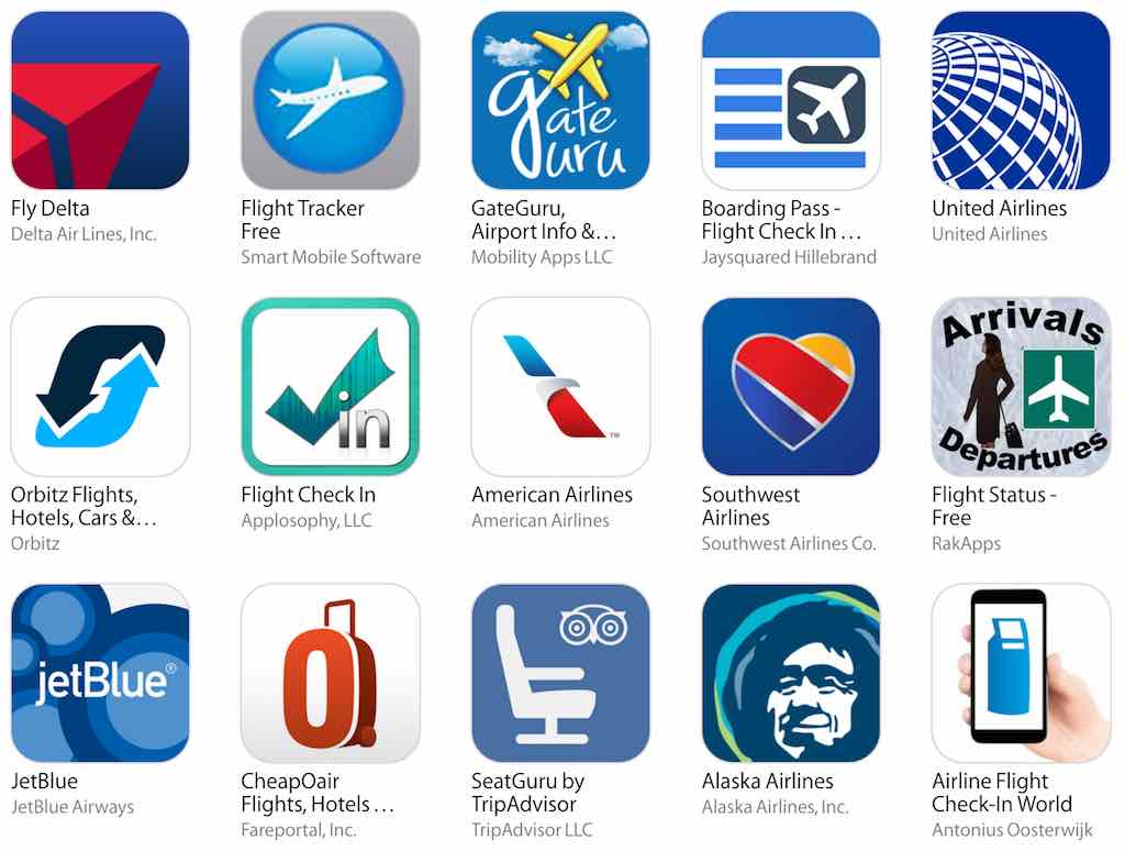 Things To Do Before Your Trip - Airline Apps