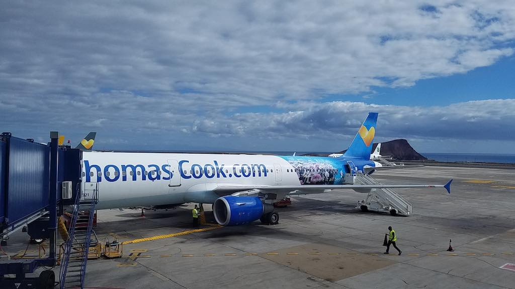 Thomas Cook Airlines Manchester to Tenerife Airbus A321 - At the gate in Tenerife (TFS)