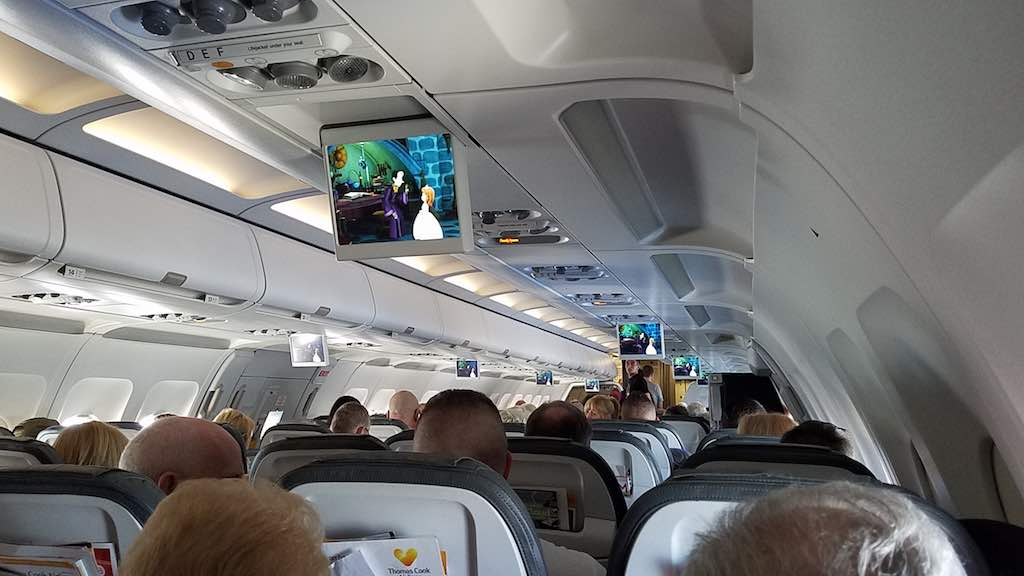 Thomas Cook Airlines Manchester to Tenerife Airbus A321 - Entertainment