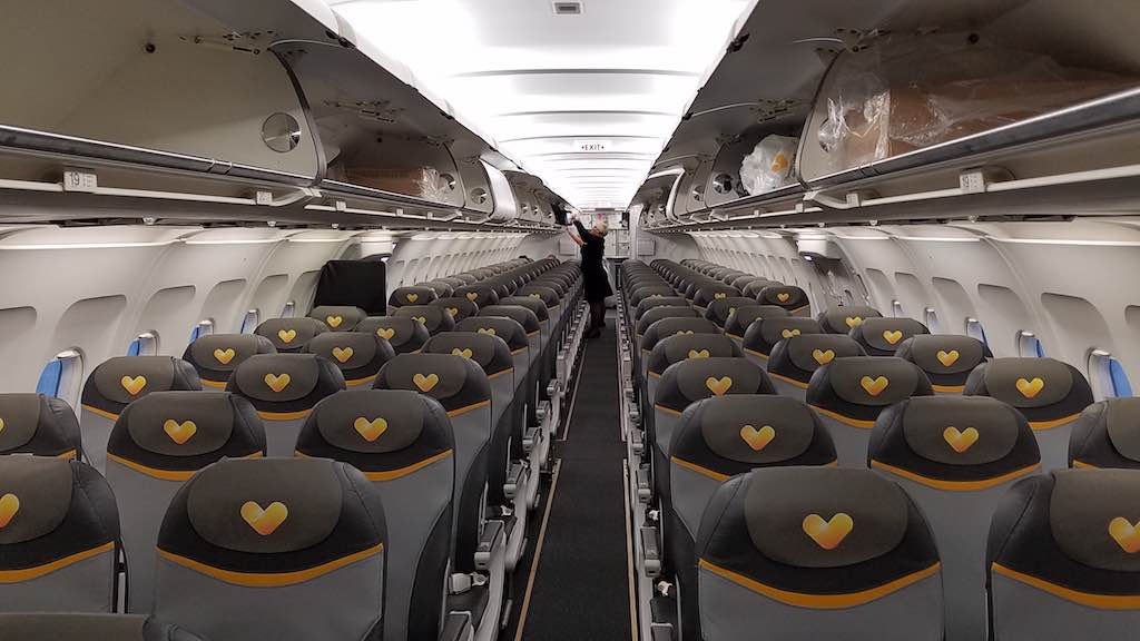 Thomas Cook Airlines Manchester to Tenerife Airbus A321 - Interior