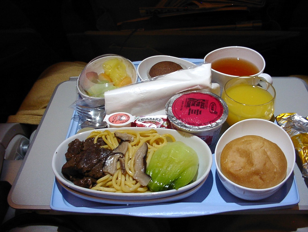 World's Longest Flight - Executive Economy Breakfast, 30 June 2004 Newark (EWR) to Singapore (SIN)