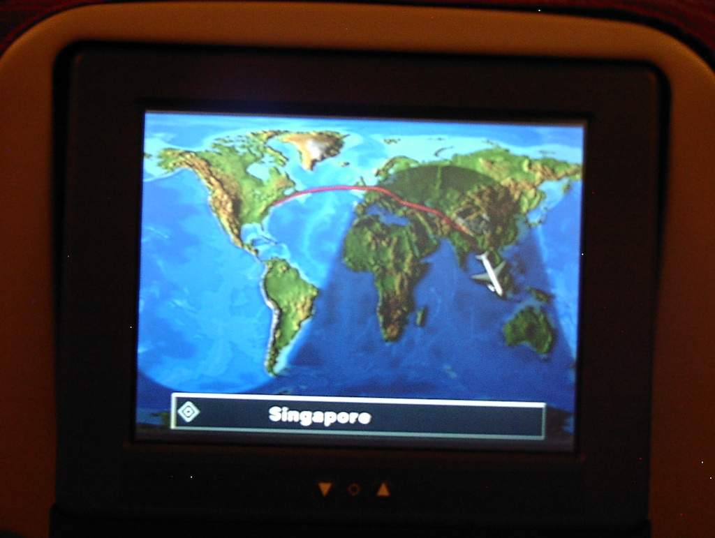 World's Longest Flight - Routing, 30 June 2004 Newark (EWR) to Singapore (SIN)