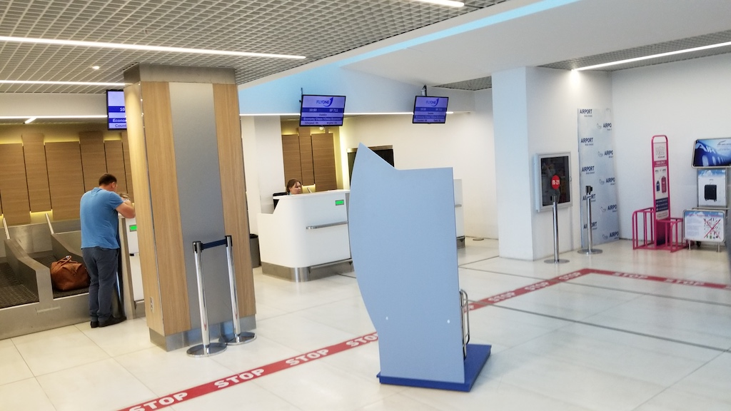 FlyOne - Airline Service Review of Chisinau, Moldova to Dublin, Ireland Check-in Desk