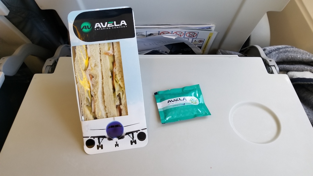 FlyOne - Airline Service Review of Chisinau, Moldova to Dublin, Ireland Airbus A320 In-flight Sandwich