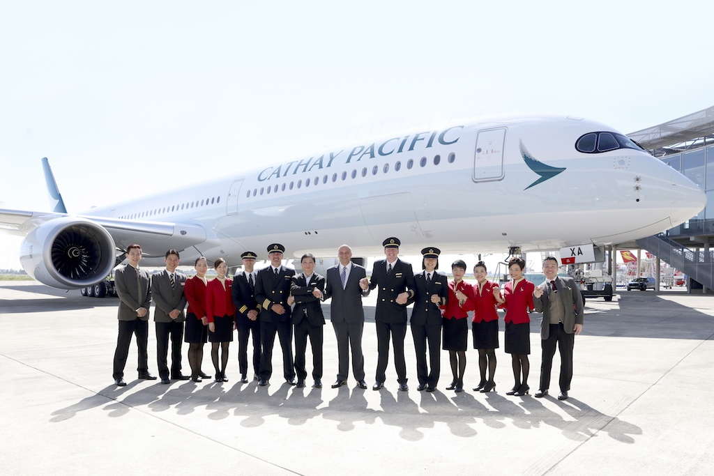 Cathay Pacific Business Class - Cathay Pacific (CX) Airbus A350-1000 With Crew