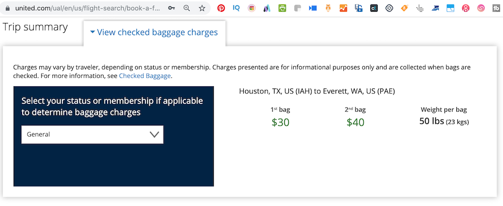 Basic Economy Baggage Rules for General Customer on United Airlines