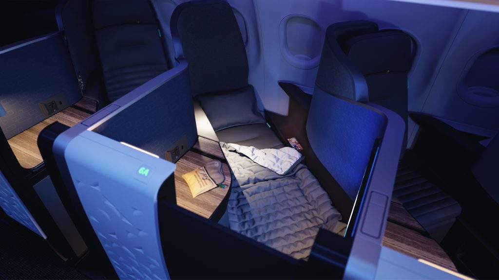 JetBlue A321LR Transatlantic Mint-Mint Studio Sleep